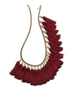 necklace with tassels