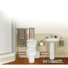 THETFORD Bathroom Anywhere 2-piece 1.28 GPF Single Flush Elongated Toilet with Seat Macerating Pump in White  sc 1 st  Pinterest & Liberty Pumps : Macerating Toilet Systems (for septic tank - where ...
