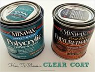 DIY:  10 paint secrets, tips  tricks you never knew about paint. This is a very useful post!!!   Polycrylic is THE BEST clear coat - ever!!!  Image Source