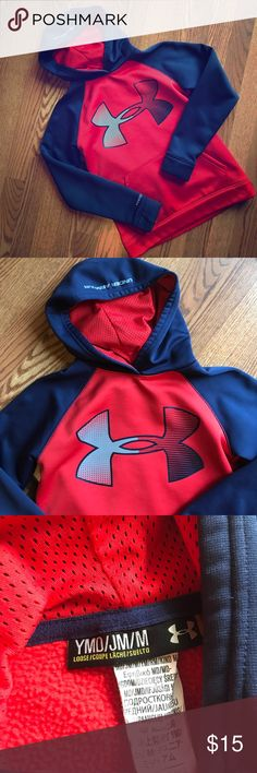 Under Armour hoodie Gently worn, but still in good shape! No stains, smoke free home. There is a tiny snag on the front pocket visible in pic. Under Armour Shirts & Tops Sweatshirts & Hoodies