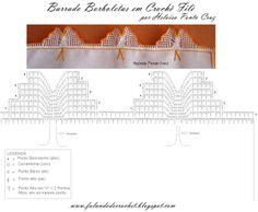 Falando de Crochet - Gráficos: BICO DE CROCHE COM BORBOLETAS