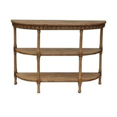 Shop for Half-moon Light Brown Wood Console Table (China). Get free delivery at Overstock.com - Your Online Furniture Destination! Get 5% in rewards with Club O!