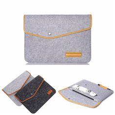 Venda quente de forma magro de feltro de lã saco luva do portátil Notebook Case capa Skin para MacBook Air Pro Retina 11 12 13 15 polegada 2 cores em Bolsas & cases para notebook de Computador & rede no AliExpress.com | Alibaba Group