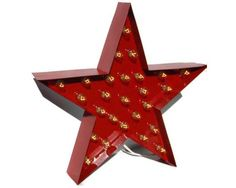 Red Metal Marquee Star Light