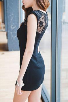 OASAP sheer lace dress