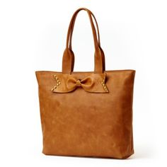 Sseko Honey Brown Accent Tote With bow PERFECT Purse  Bag For Honeymoon, Vacations, Cruises and more!   #honeymoon #musthave