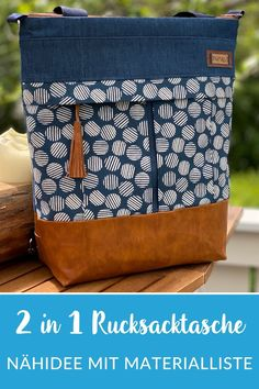 Sewing Tutorials, Sewing Projects, Uni Bag, Diy Sac, Bicycle Accessories, Fabric Bags, Diaper Bag, Purses, Knitting