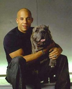 Vin Diesel and Cane Corso Vin Diesel, Cane Corso Italian Mastiff, Cane Corso Dog, Big Dogs, Cute Dogs, Dogs And Puppies, Celebrity Dogs, Carlin, Beautiful Dogs