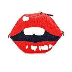 Fashion Women's Crossbody Bag With Lip Shape and Tassels Design ❤ liked on Polyvore featuring bags, handbags, shoulder bags, lips handbag, red crossbody handbags, tassel purse, red crossbody purse and crossbody handbags