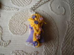 Rapunzel 2  fimo clay necklace a custome di AlberodelleMele, €14.00
