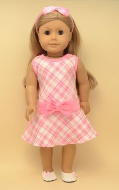 """Doll Clothes fit 18"""" American Girl Doll - dress shoes hairband"""