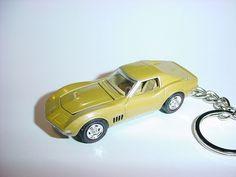 Ebay Motors Cheap Sale New 3d Black 1978 Chevrolet Corvette Custom Keychain Keyring Key Vette Bling!!! Key Chains