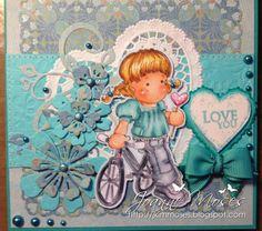 Card made with Lovelypop Tilda stamp