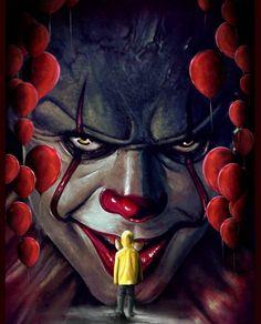 Zombies are everywhere Iconic art style Contemporary Clown Horror, Creepy Clown, Arte Horror, Horror Art, Horror Drawing, Halloween Movies, Halloween Horror, Scary Movies, Horror Movies