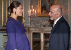 Crown Princess Victoria of Sweden met with the President of Afghanistan, Ashraf Ghani Ahmadzai at the Royal Palace on December 4, 2015 in Stockholm, Sweden.