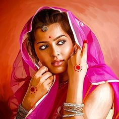 Indian Art Paintings  ASHIKA BHATIA PHOTO GALLERY   : IMAGES, GIF, ANIMATED GIF, WALLPAPER, STICKER FOR WHATSAPP & FACEBOOK #EDUCRATSWEB