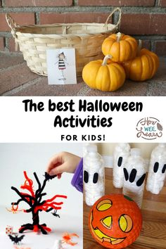 Not so spooky and very FUN and easy Halloween games for little kids to play this season! Perfect for a Halloween birthday party, family get together, schools, or in the backyard this October. Halloween Games For Kids, Halloween Activities, Easy Halloween, Halloween Crafts, Games For Little Kids, Kids Learning Activities, Halloween Birthday, Arts And Crafts Projects, October
