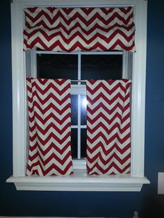 DIY Chevron Curtains