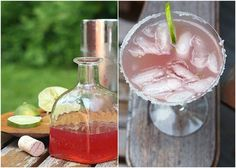 Rhubarbaritas by localkitchen: Great too as a  virgin version with selzer water and a sprig of lime! #Beverage #Rhubarb #Rhubarbarita