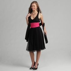 @Overstock - Show off your sassy side in a formal dress from Aspeed. This evening dress features a ruched fuschia sash at waist.  http://www.overstock.com/Clothing-Shoes/Aspeed-Womens-Black-Formal-Dress/4392729/product.html?CID=214117 $64.99
