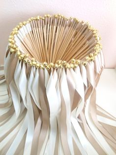 Wedding Ribbon Wands  Party streamers set by BellaBrideCreations, $125.00