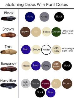 """Guide For Guys on Twitter: """"Matching Shoes With Pant Colours… """""""