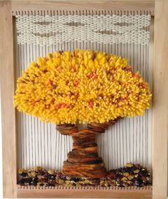Telar decorativo Árbol de la abundancia Dimensiones: 64×54 cm #telar#arboldelavida#arbol#decoracion# - creaciones_mamakika