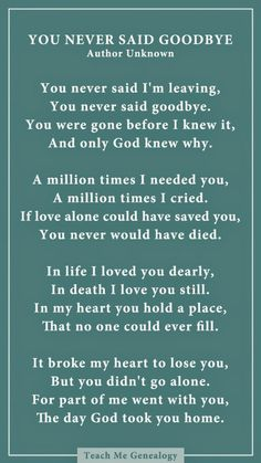 You never said goodbye poem for someone who past away died Quotes To Live By, Me Quotes, Missing Quotes, Losing A Loved One Quotes, Rip Dad Quotes, Missing Grandma Quotes, In Memory Quotes, Best Dad Quotes, Lost Quotes