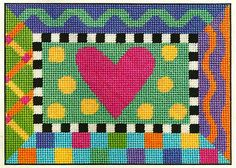 "ALICE PETERSON CANOODLES COLORFUL HEART ""LOVE ALWAYS"" NEEDLEPOINT KIT"