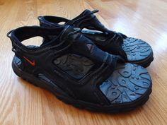 f0442e00a35 Vintage Nike ACG Sandals Size 9 Black Hiking Camping Swimming 90s 00s