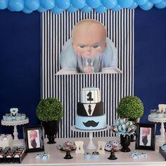 Baby Boy 1st Birthday Party, Boss Birthday, Baby Party, Birthday Decorations, Baby Shower Decorations, Festa Baby Alive, Baby Kit, Boss Baby, 1st Birthdays