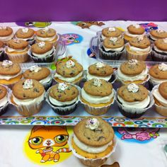 When a cupcake is just not enough. Bon-Bon's famous chocolate chip cookie cupcakes. Yummy!!