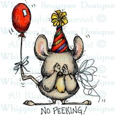 No Peeking Mouse - Mice - Animals - Rubber Stamps - Whipper Snapper Designs
