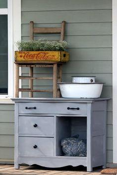 Welcoming Wash Stand - Cedar Hill Farmhouse