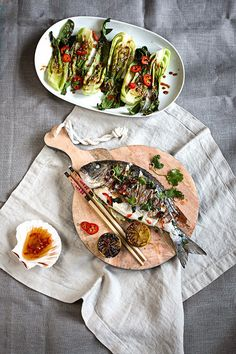 Dorade Asia Style mit Kokos-Reis und Pak Choi in Sesam-Sauce | seelenschmeichelei.blogspot.de