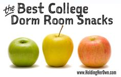 Best Healthy Snacks for a College Dorm Room, How to Stock a Dorm Room Pantry, How to Avoid the Freshman 15