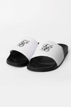 sale retailer 8f26b 7398a Roma Slides - Black   White Pool Slides, Black White, Slippers, Black And