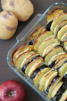 Gratin aux deux pommes et boudin Le Boudin, Sushi, Tasty, Cooking, Ethnic Recipes, Blog, Gratin, Healthy Recipes, Cooking Recipes