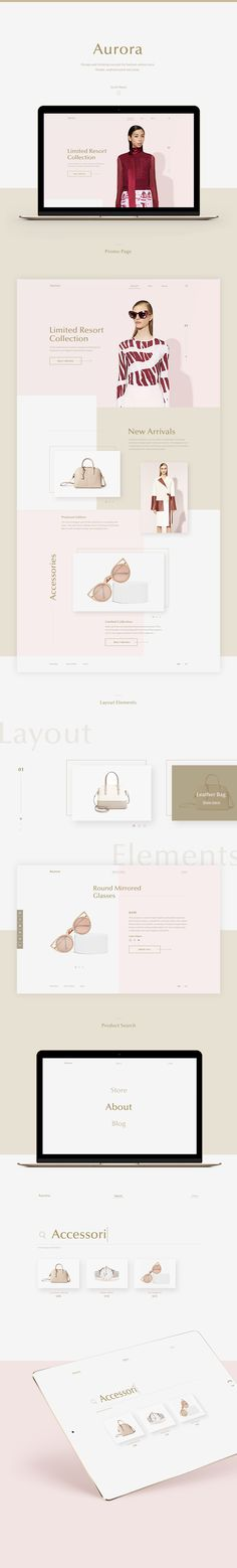 Aurora is concept design thinking for online fashion store. It is clean, modern and sophisticated concept with unique style. Aurora theme suitable for any type of purchasing especially fashion, beauty and OOTD blogs.