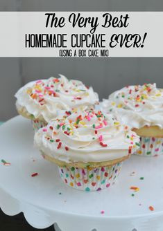 The Very Best Homemade Cupcake Ever