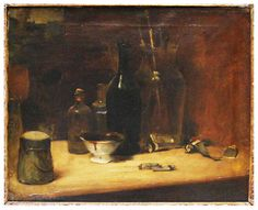 'Atelier do artista', óleo sobre tela por Edouard Manet (1832-1883, France)