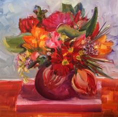 Art by Marcela Strasdas : Day 2 of Things of Beauty Spring Flowers, 30th, Artist, Painting, Beauty, Artists, Painting Art, Paintings, Painted Canvas