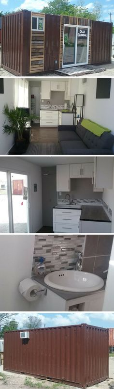 20′ SHIPPING CONTAINER HOME #containerhomes