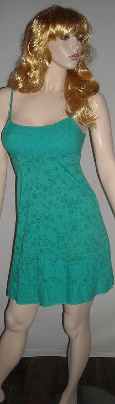 L.E.I. Sundresses by Taylor Swift Aqua Dress with Lace M Ships Free in the USA