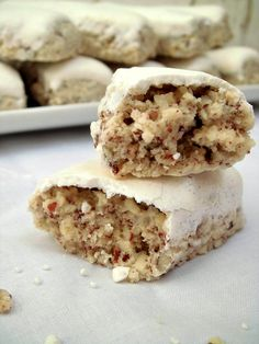 Italian Cookie Recipes, Italian Cookies, Italian Desserts, Cookie Desserts, Cookie Bars, Dessert Recipes, Afternoon Tea Recipes, Biscuits, Italian Pastries