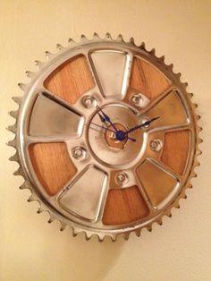 Upcycled bike clock
