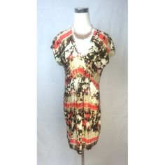Vince Camuto Watercolor Sheath Dress Size 8
