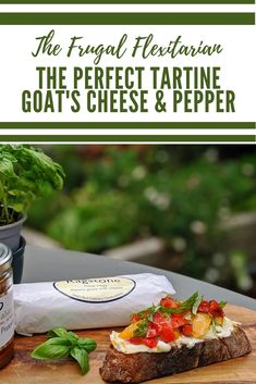goat's cheese and grilled pepper tartine, an easy recipe to use up stale sourdough #sourdough #cheese #tartine #sandwich #goatscheese #grilledpepper! srcset= Easy Healthy Recipes, Lunch Recipes, Easy Meals, Simple Recipes, Grilled Peppers, Roasted Peppers, Easy Recipe To Make At Home, Food To Make, Tartine Recipe