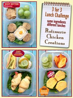 1 Whole Foods Rotisserie Chicken (= 3 great lunches! See how Deb of IPackLunch does it via Stockpiling Moms.