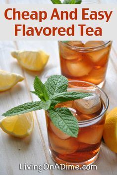 Cheap And Easy Flavored Tea Recipe - 13 Homemade Flavored Tea Recipes<br> Homemade iced tea is a refreshing drink, especially on hot summer days! These homemade flavored tea recipes give you a lot of variety for tasty variations! Sweet Tea Recipes, Iced Tea Recipes, Easy Drink Recipes, Cooking Recipes, Iced Herbal Tea Recipe, Cocktail Recipes, Bourbon Cocktails, Homemade Iced Tea, Green Tea Detox
